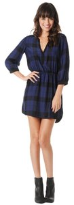Parker Slpendid Silk Splendid Plaid Dress