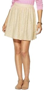 Pim + Larkin Mini Lace Sweet Naughty Mini Skirt Ivory