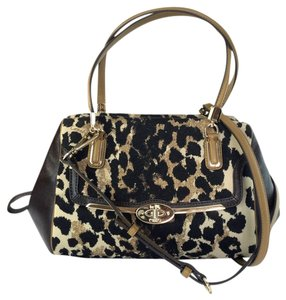 Coach 25642 Satchel in Ocelot Brown