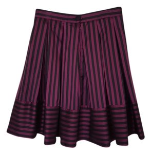 Perry Ellis Striped Skirt black