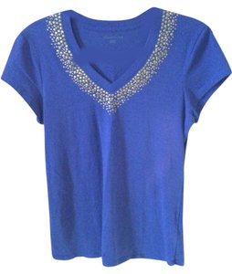 Kenneth Cole 95% Cotton 5% Spandex T Shirt Blue
