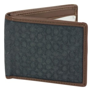 Coach * Coach Signature Denim Embossed Slim Bill Wallet - Navy