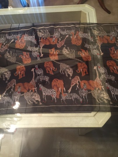 From saks been removed Animal Print Sheer Silk Scarf