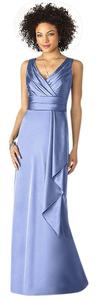 After Six Full Length Natural Waiste Stretch Charmeuse V-neck Bridesmaid Long Sleeveless Dress