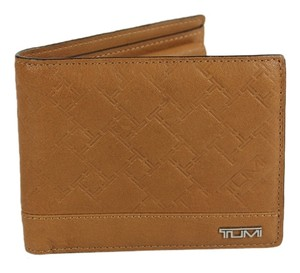 Tumi Tumi Embossed Logo Leather Wallet - Tan
