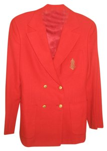Blassport 80's Vintage Buttons red Blazer