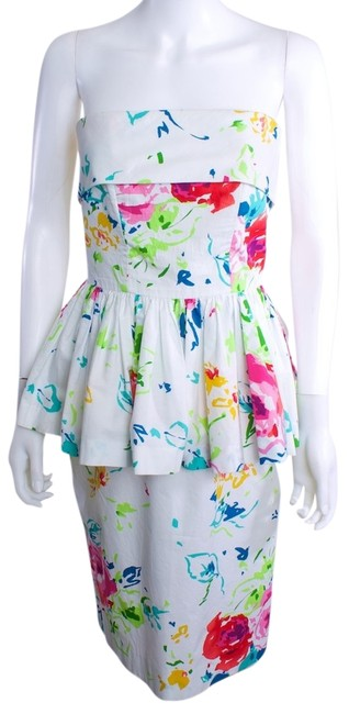 Preload https://item2.tradesy.com/images/whitemulti-floral-mid-length-cocktail-dress-size-8-m-4086796-0-0.jpg?width=400&height=650