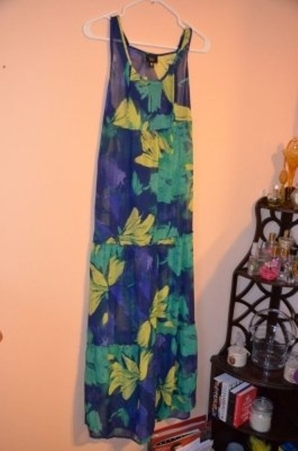Blue, green, and yellow Maxi Dress by Mossimo Supply Co.
