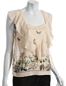 Leifsdottir Chic Luxury Silk Ruffle Top Ivory