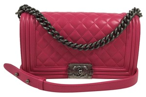 Chanel Boy Medium Quilted Lambskin Shoulder Bag