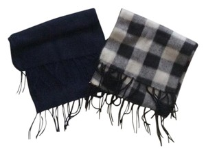 Set of 2 Navy blue & Gray soft Scarfs