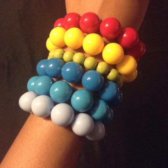 Other 6 Like New Pretty Rainbow Different Color Bead Bracelets
