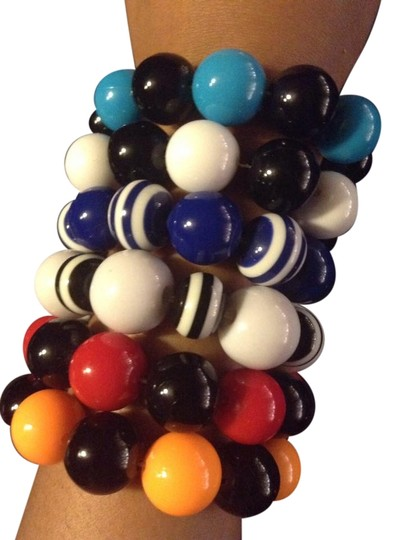 Other 6 Like New Pretty Bead Rainbow Different Color Bracelets Lot Bundle Jewelry