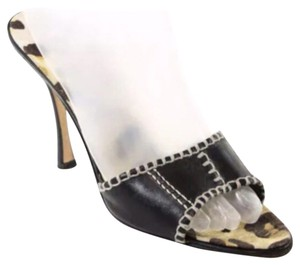 Manolo Blahnik Black/Animal Print Pumps