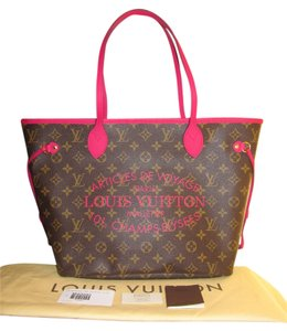 Louis Vuitton Tote in Brown/Fushia