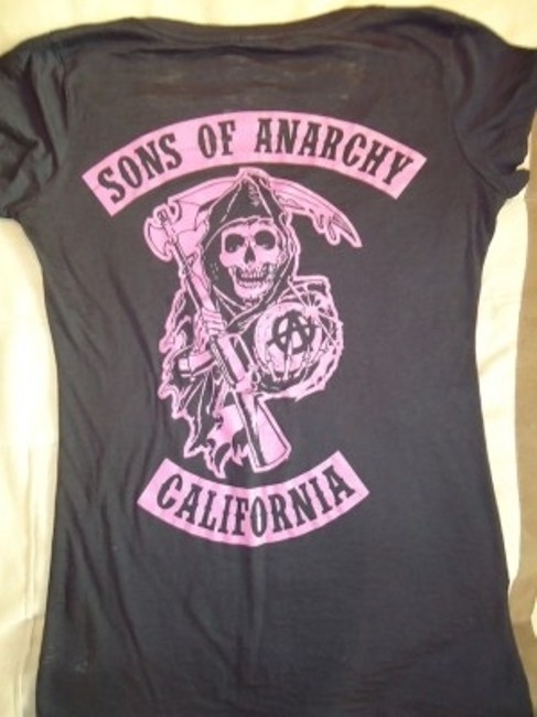 Sons of Anarchy T Shirt Black and Pink