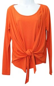 Brilho Jóias Orange Stretch Top