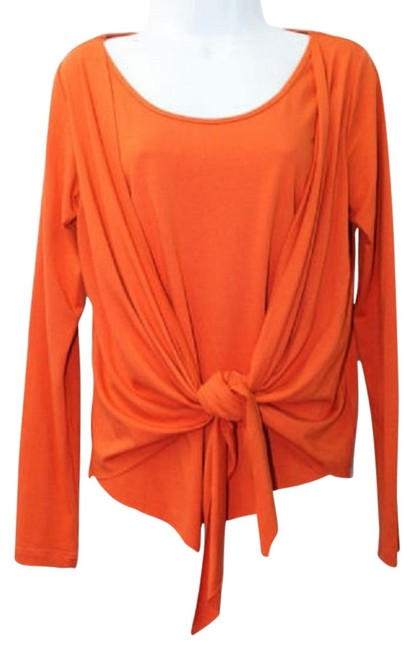 Preload https://item3.tradesy.com/images/brilho-joias-long-sleeves-stretch-knotted-l-blouse-size-12-l-4088827-0-0.jpg?width=400&height=650