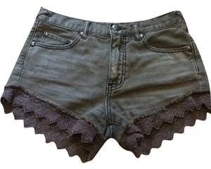 Free People Cut Off Shorts Grey