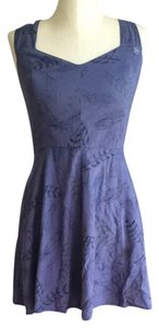 OBEY short dress Purple on Tradesy