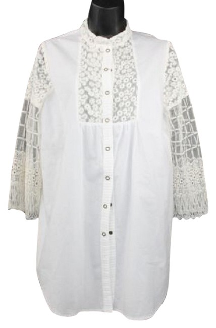 XCVI White Cotton Shirt Top