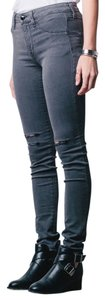 DSTLD Distressed Grey High Waisted Skinny Jeans