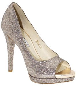 Vera Wang Lavender Label Glitter Stiletto Platform Open Toe Party Bridal Multi-Colored Pumps