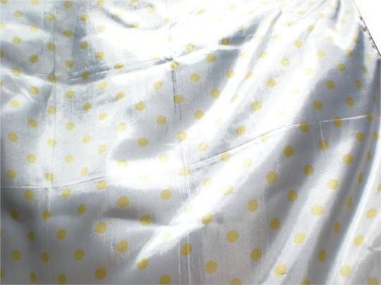 Other Vintage White Scarf with Yellow Polka Dots