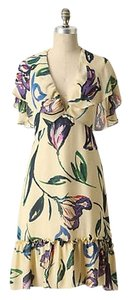 Anthropologie Corey Lynn Calter Floral Silk Spring Dress