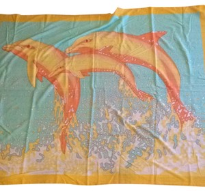 Hermès Large Hermes Cotton Dolphin Scarf/Wrap