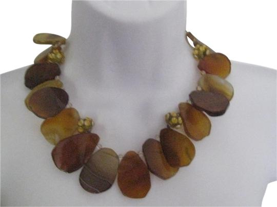 Preload https://item3.tradesy.com/images/amy-kahn-russell-buttetscotch-38613-natural-agate-free-form-slice-stone-necklace-408967-0-3.jpg?width=440&height=440