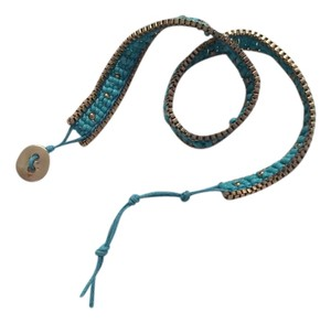 Other Turquoise & Gold Beaded Wrap Bracelet