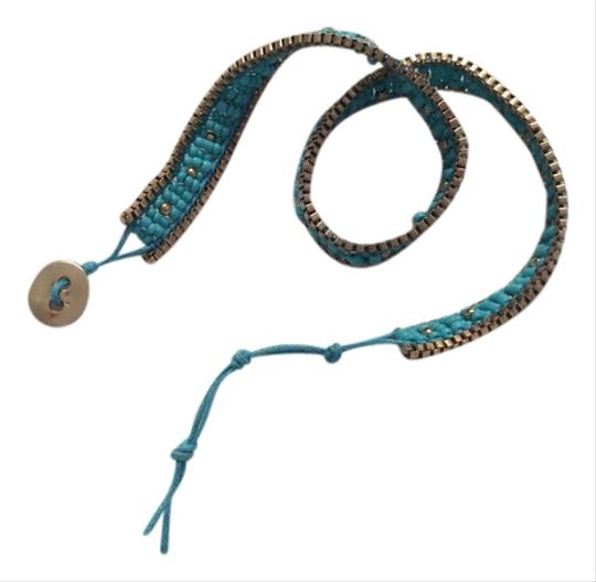 Preload https://item5.tradesy.com/images/other-turquoise-and-gold-beaded-wrap-bracelet-4089814-0-0.jpg?width=440&height=440