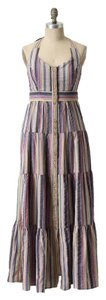 multi stripe Maxi Dress by Anthropologie Summer Linen Maxi Maeve