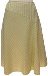 Ann Taylor Silk/cotton A Line Skirt lt sage/cream