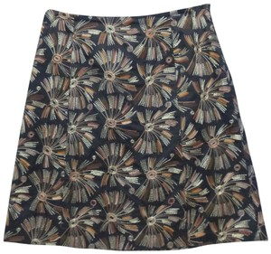 Talbots Embroidered Skirt black/multi
