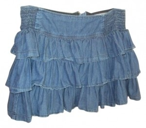 Charlotte Russe Mini Skirt Denim