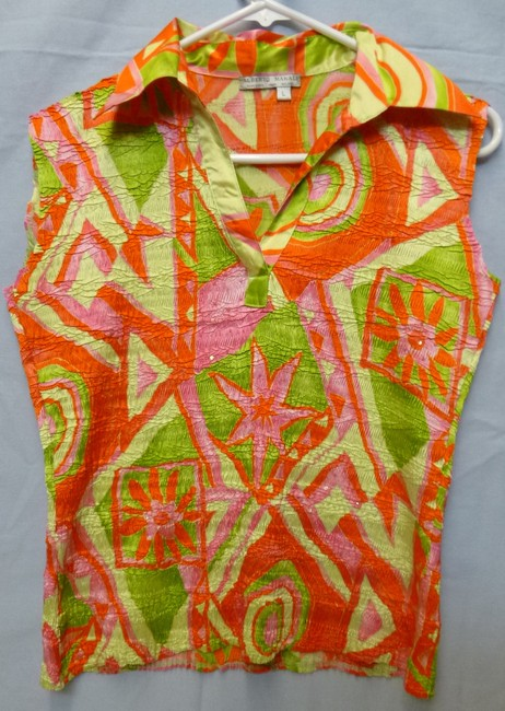 Alberto Makali Crinkled Sequins Top multi/vibrant