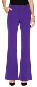Escada Stretch Flared Leg Wide Leg Couture Couture Designer Boot Cut Dressy Style 5006886 Trulia Size 46 Size 14 Tech Trouser Pants Iris or Purple
