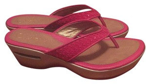 Cole Haan Fuschia red patent Sandals