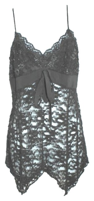 L' POGEE Embellished Stretch Lace Top