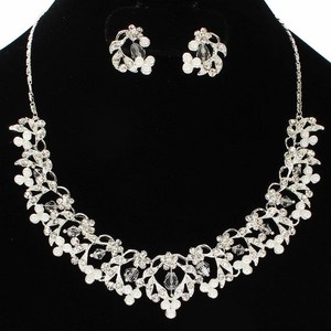 Pearl Bridal Necklace And Earring Set