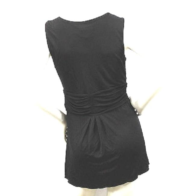Apostrophe Ruched Black Top