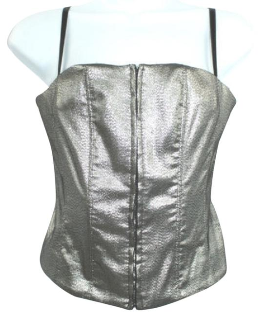 Preload https://item1.tradesy.com/images/spaghetti-strap-metallic-stretch-cocktail-party-blouse-tank-topcami-size-10-m-4091350-0-0.jpg?width=400&height=650