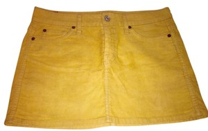7 For All Mankind Skirt Yellow