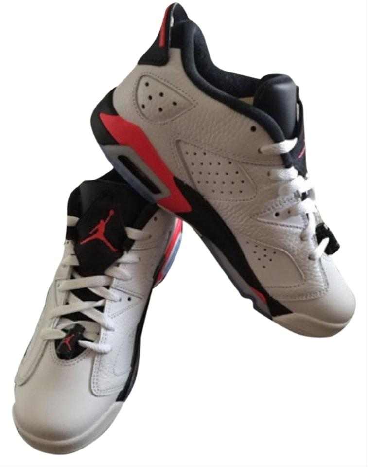 7cb7c2fa598 Air Jordan White  Black and Infrared Pink Retro 6 Sneakers Size US ...
