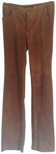 Earl Jeans Boho Suede Straight Pants Brown