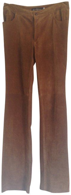 Preload https://item2.tradesy.com/images/earl-jeans-brown-suede-straight-leg-pants-size-4-s-27-409226-0-0.jpg?width=400&height=650