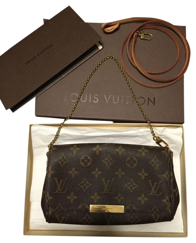 d2782ac502ee Louis Vuitton Favorite Pm Lv Dustbag Receipt Mono Monogram Crossbody Zippy  Wallet Pochette Pouch Azur Ebene ...