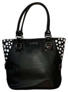Nine West Tote in Black and White Polka Dot